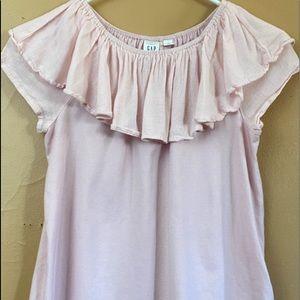 Girl's GAP Kids Pink Ruffle Blouse Sz 12 C12